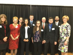 MA State Auditor Bump with Nichols Accounting students and faculty