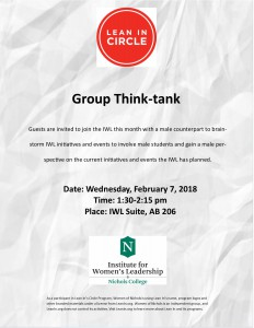 Student Lean In Circle February Invitation