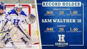 Sam hockey record