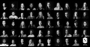(The 50 students, faculty, and staff member portraits from the 2019 Women's History Month Photo Installation)