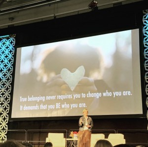 Dr. Brené Brown opened up the Mass Women's Conference with a speech about courage and finding her way.