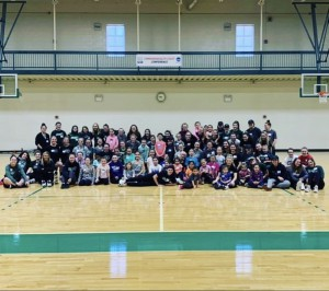 Group photo of the participants and volunteers from the NGWSD Play for a Day.